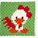 Zoodiacs Rooster Graph pattern