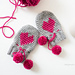 Baby Heart Mittens pattern