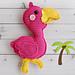 Flamingo Kawaii Cuddler® pattern