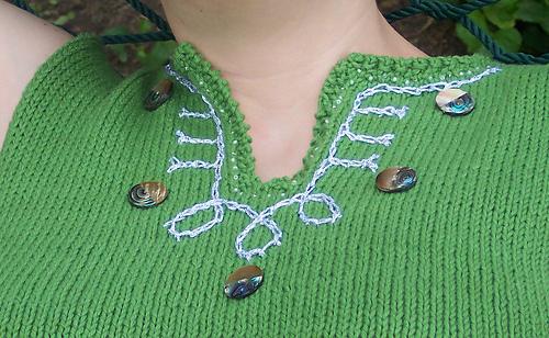 VK Beaded top - neckline