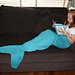 Mermaid Tail Lap Blanket for Children and Teens pattern