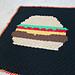 Cheeseburger C2C Lap Blanket pattern