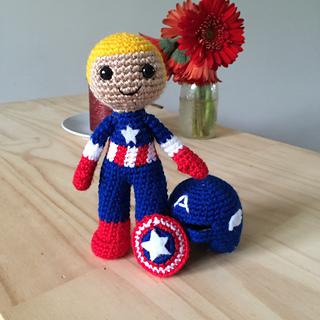 Captain America Amigurumi Pattern | Amigurumi pattern, Pattern ... | 320x320