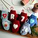 Felt Applique Mitten Christmas Ornament pattern