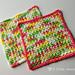Moss Stitch Dishcloth pattern