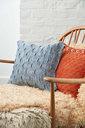 The Saturnus Cushions teach you how to work these beautiful grab stitch textures.