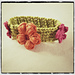 Tunisian Flower Bracelet pattern