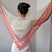 Spring Blossom lace triangle shawl wrap pattern