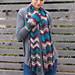 Everyday chevron scarf pattern