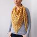 Arrow asymmetric shawl pattern