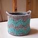 Knit look basket pattern