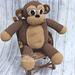 """Bubbles"" the Monkey Pillow Buddy pattern"