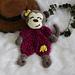 Monkey Ragdoll Lovey pattern