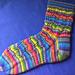 Tumbling Blocks Striped Socks pattern