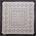 Diamonds. The baby blanket pattern