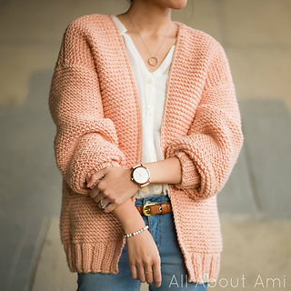 The Downtown Cardigan pattern by Stephanie Jessica Lau