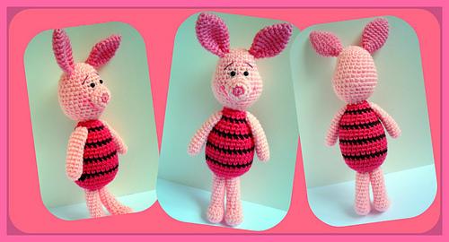 Crochet pattern Piglet   Sabrina's Crochet   270x500