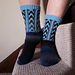 Blueberry Clouds Socks pattern