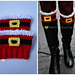 Holiday Cheer Boot Cuffs pattern