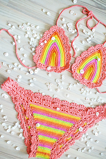 Groovy Ravelry Colourful Bikini Pattern By Jane Green Funny Birthday Cards Online Sheoxdamsfinfo
