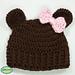Newborn Baby Girl Bear Hat pattern