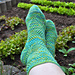 Rhombus Rib Socks pattern