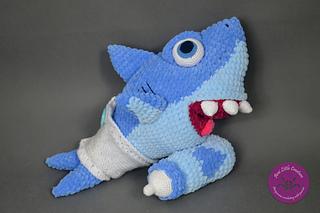 Baby Shark amigurumi   Amigurumi de animais de crochê, Bichinhos ...   213x320