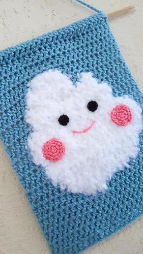 Cloud free crochet pattern, patron gratis gratuito nube Claudi ... | 500x281