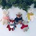 Winter Animals Knit Christmas Ornaments pattern
