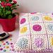 Dahlias in Bloom Cushion pattern