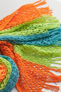 Light Summer crochet scarf