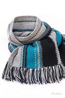 Moss Stitch Crochet Scarf, free pattern