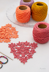 Fall lace crochet triangle motifs