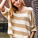 # 23 Lässiger Streifenpullover glatt rechts pattern