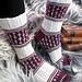 Socks Fleur de Lys pattern