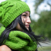 Shamrock green cable knit hat pattern