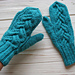 Teal Cable Mittens pattern