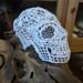 3D crochet doily skull pattern