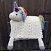 3 in 1 Rainbow Unicorn Folding Baby Blanket pattern