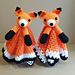 Foxy Fox Lovey Security Blanket pattern