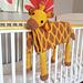 3in1 Safari Giraffe Baby Blanket pattern