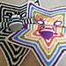 Rainbow Zebra Security Blanket pattern