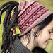 Knitted Dreadlock Woman Hat,opened end pattern