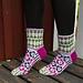 Blomma sock pattern