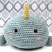 Nico Narwhal an Ad-Orbs Creature pattern