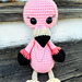 Flora the Pink Flamingo pattern