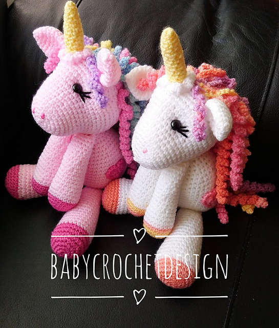 Unicorn Pillow Friend Crochet Pattern   Hooked on Homemade Happiness   640x545