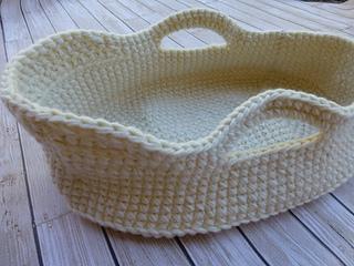 crochet doll moses basket pattern free
