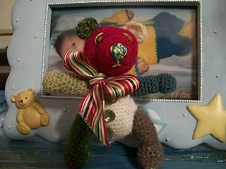 124 crochet thread teddy bear JRD 001
