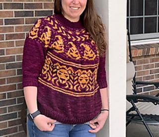 Ravelry: Gryffindor Sweater Set pattern by Meghan Regan